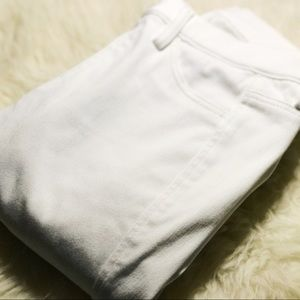 Uniqlo mid rise white skinny jeans
